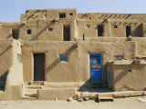 Bright Sunshine Casts Harsh Shadows on This Southwestern Adobe Pueblo Structure Photographic Print by Stacy Gold