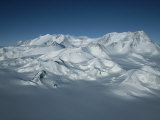 An Aerial View of Mount Vinson, Antarcticas Highest Peak Photographic Print by Gordon Wiltsie