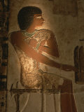 A Stone Relief Depicts a Member of Ancient Egyptian Royalty Photographic Print by Kenneth Garrett