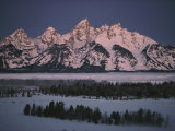 Winter View of the Teton Range Fotografisk trykk av Dick Durrance
