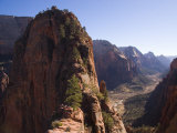 Picnickers Eat on a Narrow Ledge Over the Valley, Zion National Park, Utah Photographic Print by Taylor S. Kennedy