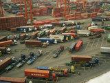 Hong Kong Cargo Terminal Photographic Print by  xPacifica