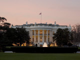 Twilight View of the White House Photographic Print by Charles Kogod