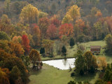 Fall Color Graces a Farm in the Shenandoah Valley Photographic Print by Charles Kogod