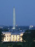 The White House, Washington Monument, and Jefferson Memorial at Dusk Photographic Print by Richard Nowitz
