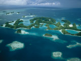Aerial View of Islands in the Republic of Palau Lámina fotográfica por Tim Laman