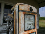 Vintage Gas Pump Recalls the Open American Road and Cheaper Prices Photographic Print by Stephen St. John