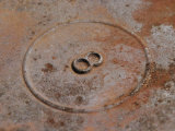 Detail of a Rusted Piece of Metal Found in a Junkyard Photographie par Jim Webb