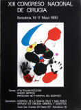 XIII Congreso Nacional de Cirugia 1980 Collectable Print by Joan Miró