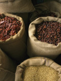 Herbs and Spices Sold at a Market Fotoprint van Todd Gipstein