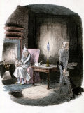 "Illustration of Charles Dickens' ""A Christmas Carol"" Showing Scrooge and Marley's Ghost Photographic Print"