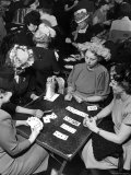 Ladies Playing Bridge Premium Photographic Print by Nina Leen