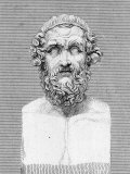 Bust of Homer, Ancient Greek Poet Premium Photographic Print by George Cooke