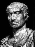 Head of Statue of Julius Caesar, Roman General and Statesman Photographic Print