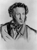 Illustration of Alexander Pushkin, Russian Poet Premium Photographic Print