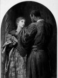 "Illustration of Othello and Desdemona in a Scene from William Shakespeare's Play, ""Othello"""
