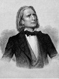 Illustration of Franz Liszt, Hungarian Composer and Pianist Premium Photographic Print