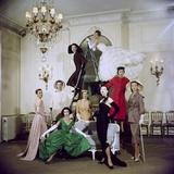 Models Posing in New Christian Dior Collection Fotografisk tryk af Loomis Dean