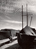 Boatyard on Martha's Vineyard in Winter Premium Photographic Print by Alfred Eisenstaedt