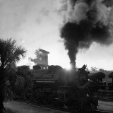 Locomotive Rolling Into Junction at Sunrise Photographic Print by Alfred Eisenstaedt