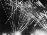 Allied Anti Aircraft Fire Streaking Through the Night During a German Air Attack Premium Photographic Print