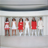 Models Wearing Fashions Designed by Andre Courreges Photographic Print by Bill Ray