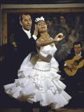 Flamenco Dancer Maria Albaicin Performing with Partner Photographic Print by Loomis Dean