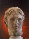 Hellenic Sculpture of Alexander the Great from the Musee D'Antiquities de Stambul Premium Photographic Print by Dmitri Kessel