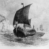 The Danish Ship Called the Raven, Viking Ship, Pre-800 AD Photographic Print