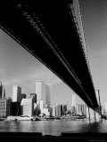 Brooklyn Bridge and Lower Manhattan Photographic Print by Alfred Eisenstaedt