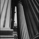 Columns at Entrance to Metropolitan Museum of Art Photographic Print by Bert Kopperl