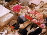 Flowers, Shoes and Other Accessories at Dior's Studio Photographic Print by Loomis Dean