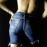 Girl Posing in Levi's Blue Jean Cut Offs Photographic Print by Co Rentmeester