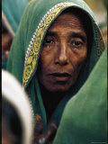 East Pakistani Looking Forlorn While Waiting For Rations from British Troops After Cyclone Disaster Premium Photographic Print by Larry Burrows
