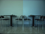 Cafeteria Furniture in Civic Center Called Science City Designed by Arata Isozaki Premium Photographic Print by Ted Thai