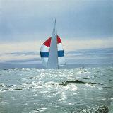 The Sailboat Nefertiti Competing in the America's Cup Trials Stampa fotografica di George Silk