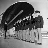 Uniformed Tour Guides Lined Up For Inspection at the 1939 New York World's Fair Photographic Print by Alfred Eisenstaedt