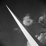 View of the Iconic Trylon on the Grounds of the 1939 New York World's Fair Photographic Print by Alfred Eisenstaedt