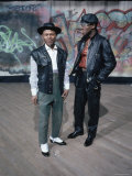 "2 Guys in ""Rap"" Attire in Hunts Point Club Premium Photographic Print by Ted Thai"