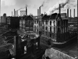 Bomb Damaged Buildings in the Shadow of the Thyssen Steel Mill Premium Photographic Print by Ralph Crane