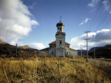 Abandoned Russian Church in the Village of Unalaska Near Dutch Harbor, Aleutian Islands Premium Photographic Print by Dmitri Kessel