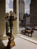 Handsome Cab Horse Drawn Carriage Waiting Outside Entrance of the Plaza Hotel Premium Photographic Print by Dmitri Kessel