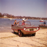 German Made Amphicar, a Car That Drives on Water Photographic Print by Joe Scherschel