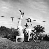 Gov. J. Strom Thurmond of S.C. Standing on His Head For the Benefit of His Newly Wed Wife Photographic Print by Ed Clark