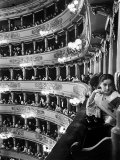 Audience in Elegant Boxes at La Scala Opera House Fotoprint van Alfred Eisenstaedt