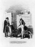 Illustration Depicting a Scene from the Charles Dickens Novel Martin Chuzzlewit Premium Photographic Print