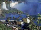 Iguassu or Iguacu Waterfalls, Formerly Known as Santa Maria Falls, on the Brazil Argentina Border Photographic Print by Paul Schutzer