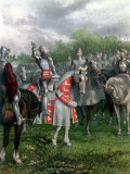 England's Henry V Among His Troops at Agincourt During Hundred Years War Photographic Print