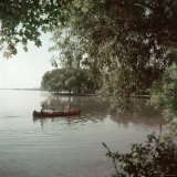 Canoeing in Madison Wisconsin Photographic Print by Alfred Eisenstaedt