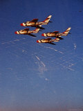 F86D Fighter Jets in Flight over Los Angeles Premium Photographic Print by Howard Sochurek